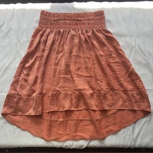 Lane Bryant - Peach High Low Skirt